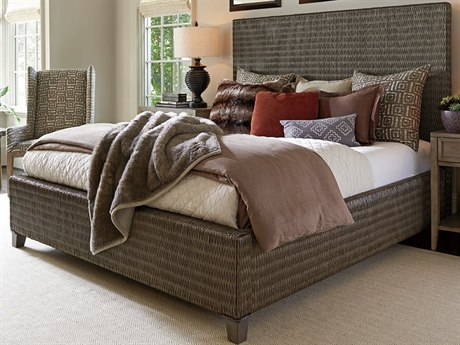 Tommy Bahama Cypress Point Driftwood Isle Woven California King Platform Bed