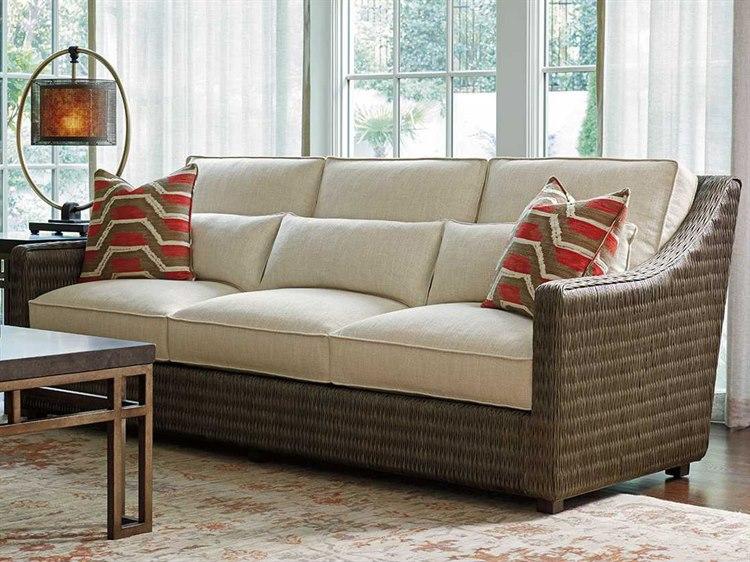 Cool Tommy Bahama Cypress Point Hayes Loose Back Rattan Sofa Custom Upholstery Camellatalisay Diy Chair Ideas Camellatalisaycom