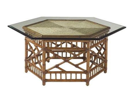 Tommy Bahama Island Estate 50.75 x 44 Key Largo Hexagon Cocktail Table TO010531947C