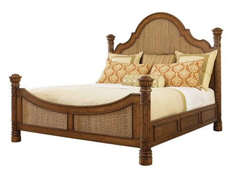 Tommy Bahama Island Estate Round Hill King Poster Bed