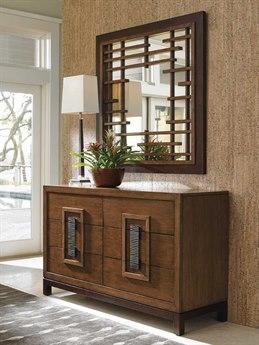 Tommy Bahama Island Fusion Tahara Sebana Dresser & Mirror Set