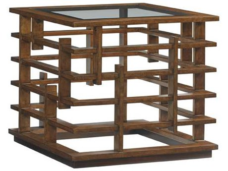 Tommy Bahama Island Fusion 27 Square Nobu Sebana Lamp Table TO556954