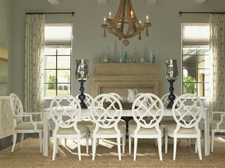 Tommy Bahama Ivory Key Castle Harbour Dining Table Set