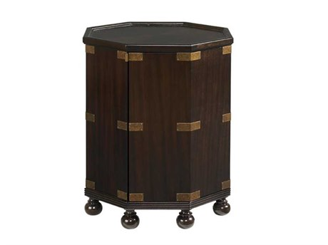 Tommy Bahama Royal Kahala 22.5 Octagonal Pacific Campaign Accent Table TO010537952