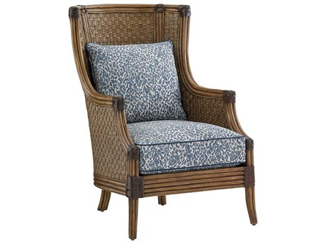 Tommy Bahama Twin Palms Coral Reef Loose Back Rattan Chair