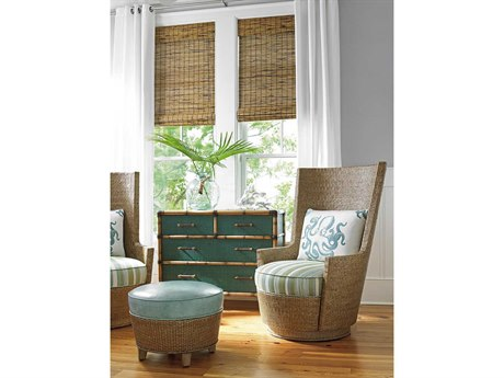 Tommy Bahama Twin Palms Chair and Ottoman Set TOCORALRLIVINGSET3