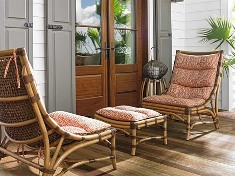 Tommy Bahama Twin Palms Chair and Ottoman Set TOHAMMOCKLIVINGSET2