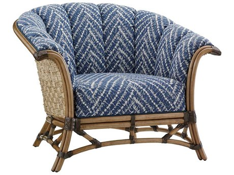 Tommy Bahama Twin Palms Pelican Channel Key Back Rattan Chair TO179811