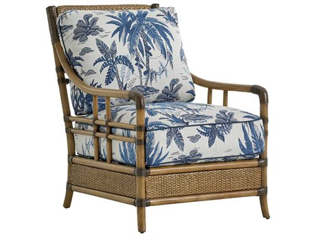 Tommy Bahama Twin Palms Seagate Loose Back Rattan Chair TO184511