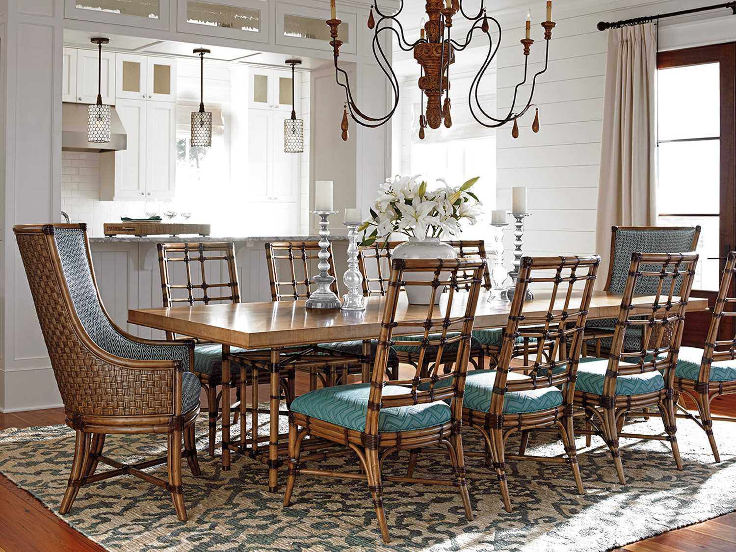 Tommy Bahama Twin Palms Traditional Casual Dining Room Set