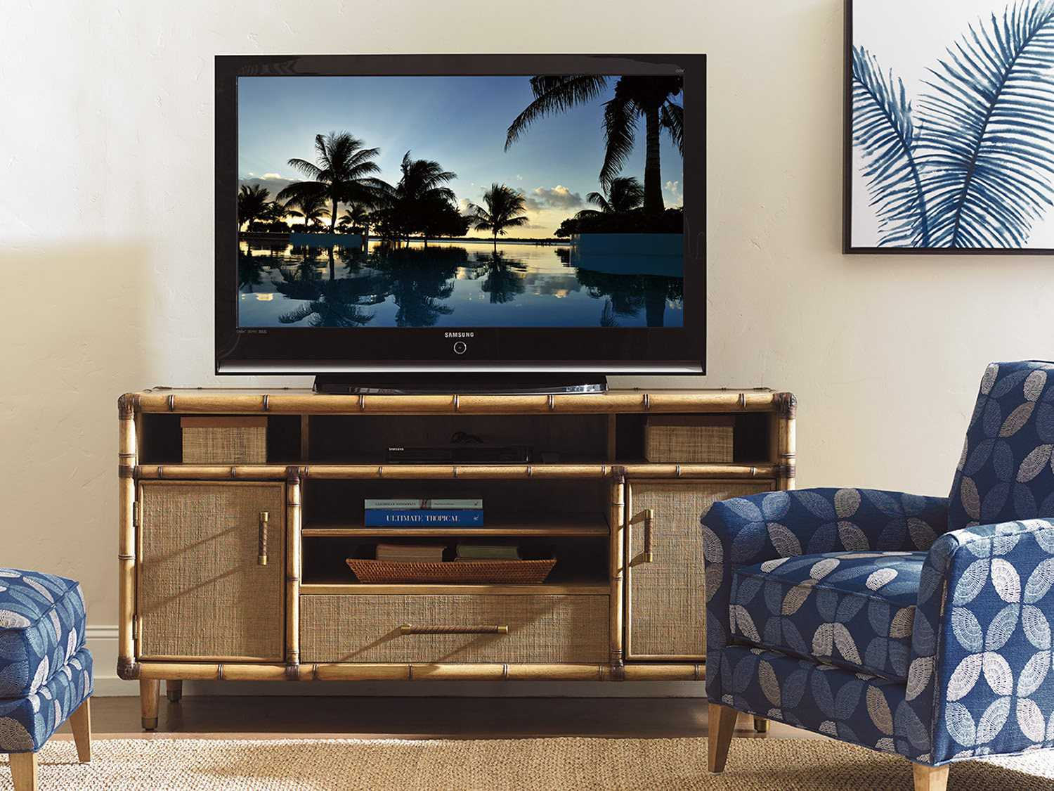 Tommy Bahama Twin Palms Windjammer Media Console To558907