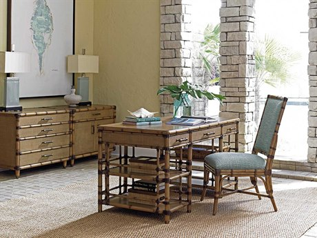 Tommy Bahama Twin Palms Executive Desk Home Office Set TOSTVDESTSET