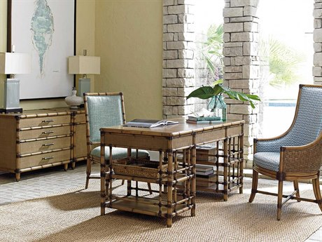 Tommy Bahama Twin Palms Executive Desk Home Office Set TOSTVDESTSET2