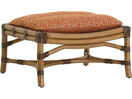 Tommy Bahama Twin Palms Hammock Bay Semi-Attached Top Rattan Ottoman TO193544