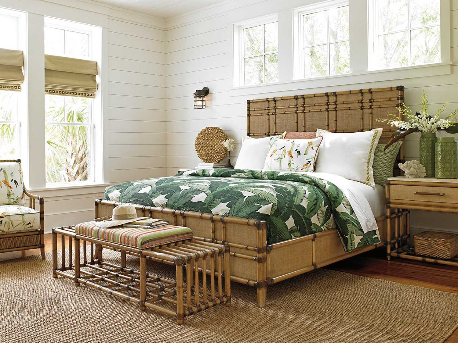 Tommy Bahama Twin Palms Panel Bed Bedroom Set Totwinpbedset4