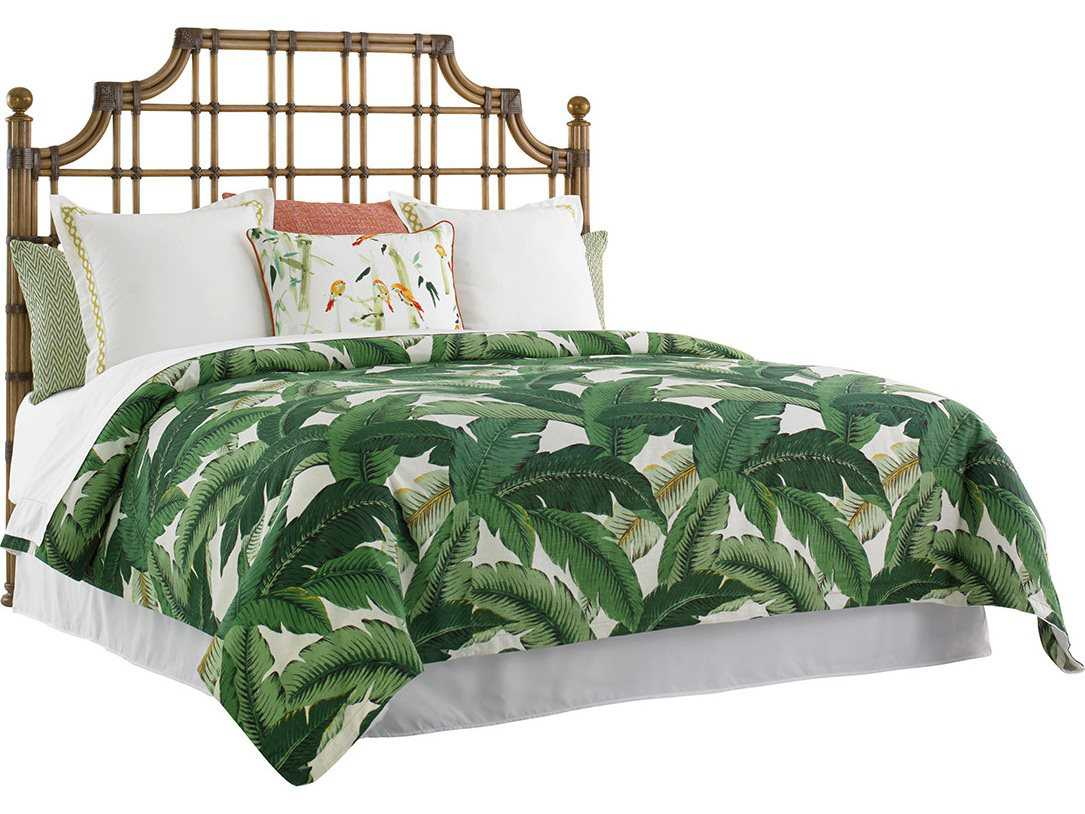 Tommy Bahama Twin Palms St Kitts Rattan Bed 5 0 Queen