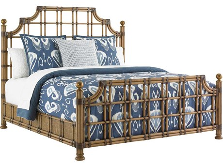 Tommy Bahama Twin Palms St. Kitts Rattan Bed 6/6 King TO558144C