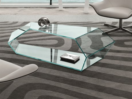 Tonelli Dekon 2 59.05'' x 26.77'' Glass Coffee Table TONDEKON2