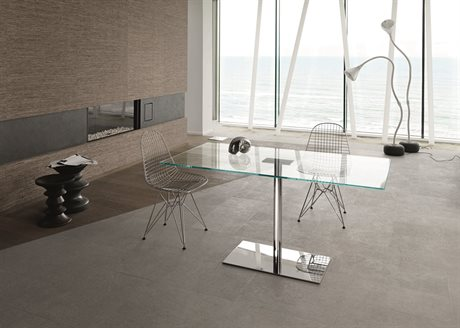 Tonelli Farniente Alto Chrome Plated Metal Rectangular Dining Table TONFARNIENTEALTORETTANGOLARE