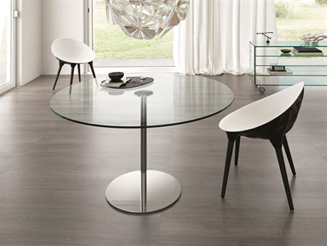 Tonelli Farniente Alto Chrome Plated Metal Round Dining Table TONFARNIENTEALTOTONDO