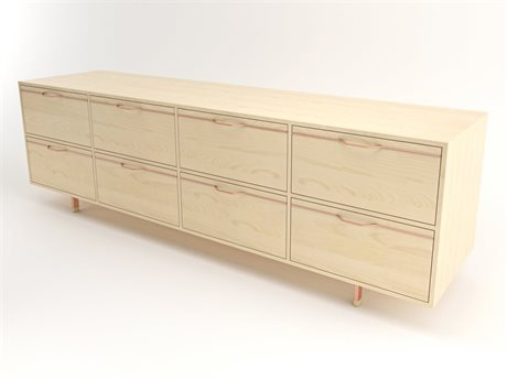 Tronk Design Chapman Storage Collection Rose Copper Double Dresser