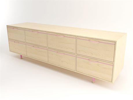 Tronk Design Chapman Storage Collection Pink Double Dresser
