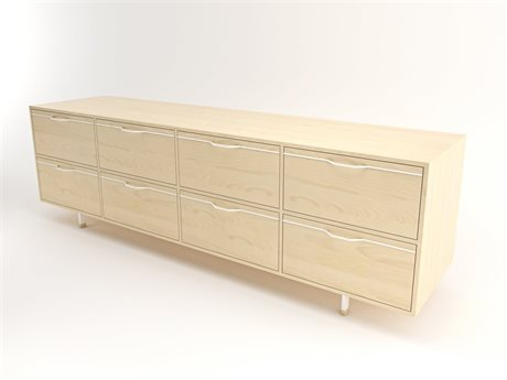 Tronk Design Chapman Storage Collection White Double Dresser