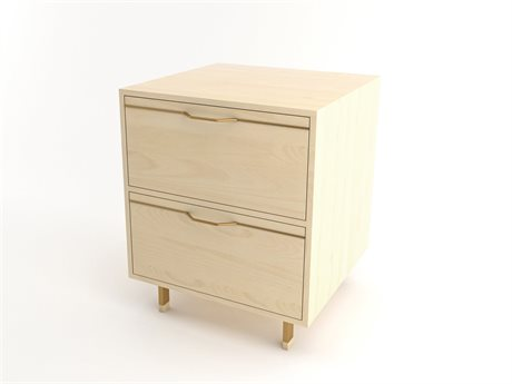 Tronk Design Chapman Storage Collection Brassy Gold Rectangular 2 Drawers Nightstand TROCHP1U1DWMPLGD