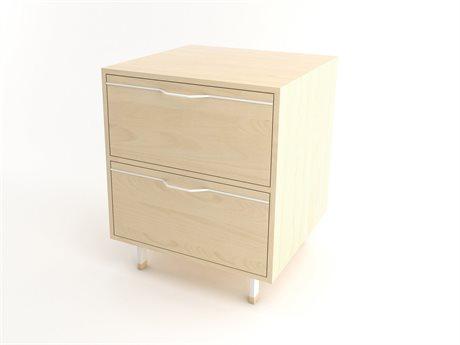 Tronk Design Chapman Storage Collection White Rectangular 2 Drawers Nightstand TROCHP1U1DWMPLWH