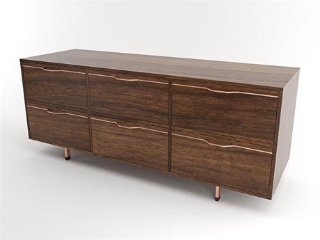 Tronk Design Chapman Storage Collection Rose Copper Triple Dresser