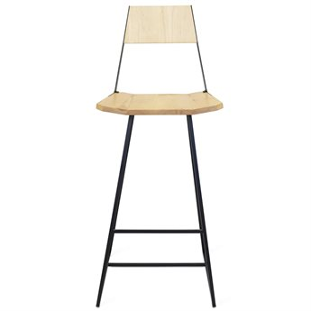 Tronk Design Clarke Collection Black Side Bar Height Stool