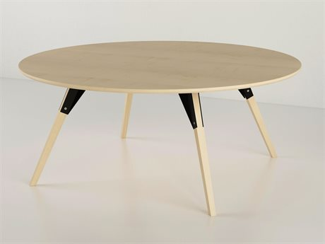 Tronk Design Clarke Collection Black 46'' Wide Round Coffee Table