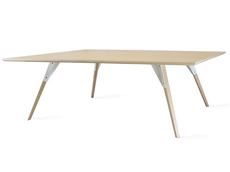 Tronk Design Clarke Collection White 54'' Wide Rectangular Coffee Table