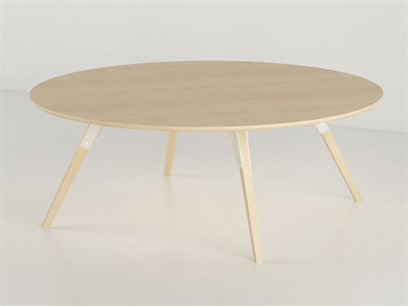 Tronk Design Clarke Collection White 40'' Wide Round Coffee Table