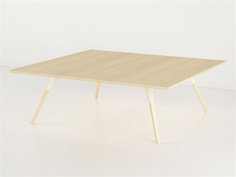Tronk Design Clarke Collection White 46'' Wide Rectangular Coffee Table