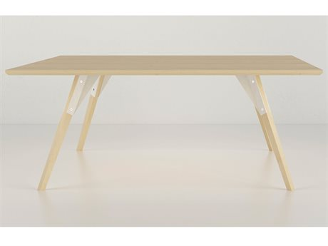 Tronk Design Clarke Collection White 40'' Wide Square Coffee Table TROCLKCOFMPLSMSQWH