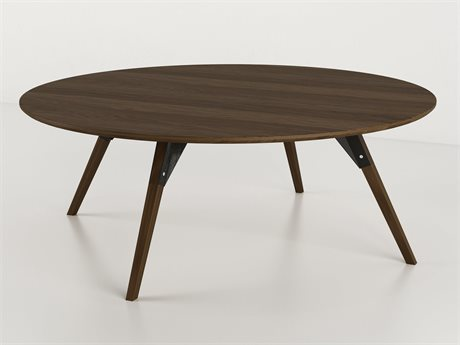 Tronk Design Clarke Collection Black 40'' Wide Round Coffee Table