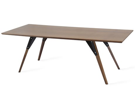 Tronk Design Clarke Collection Black 54'' Wide Rectangular Coffee Table