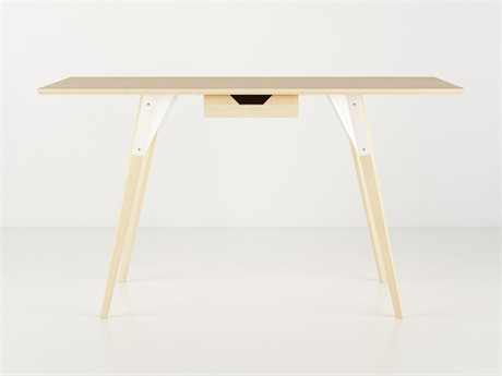 Tronk Design Clarke Collection White Computer Desk