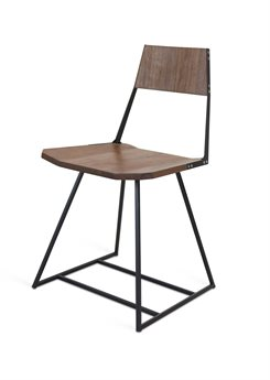 Tronk Design Clarke Collection Black Side Dining Chair