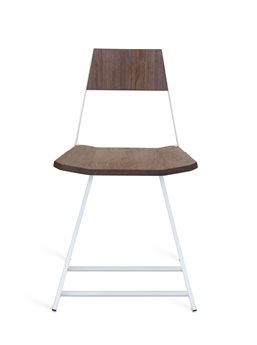 Tronk Design Clarke Collection White Side Dining Chair