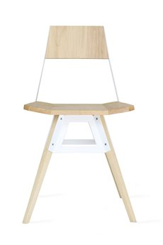 Tronk Design Clarke Collection White Side Dining Chair TROCLKMPLWH