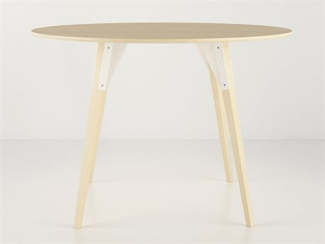 Tronk Design Clarke Collection White 46'' Wide Round Dining Table
