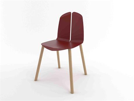 Tronk Design Blood Red Side Dining Chair TRONOACHRBROAK