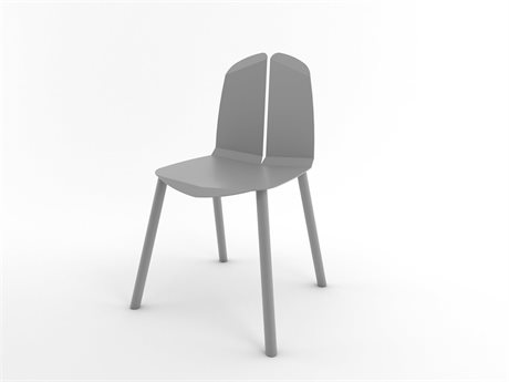 Tronk Design Grey Side Dining Chair