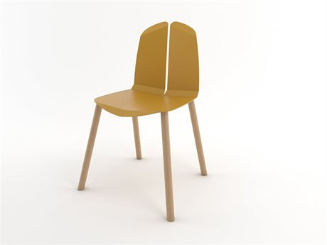 Tronk Design Mustard Side Dining Chair