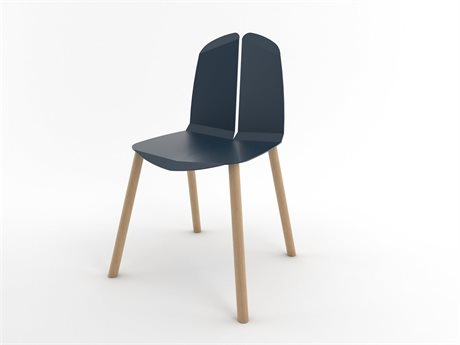 Tronk Design Navy Side Dining Chair