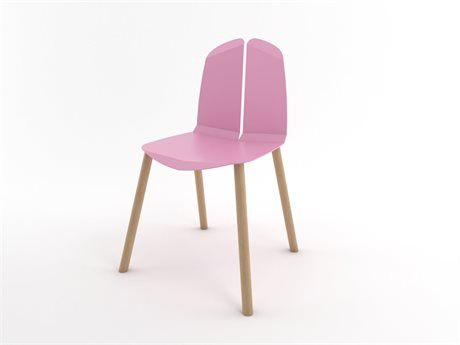 Tronk Design Pink Side Dining Chair TRONOACHRPKOAK