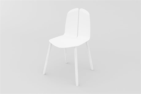 Tronk Design White Side Dining Chair
