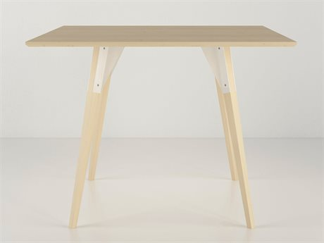 Tronk Design White 40'' Wide Square Dining Table
